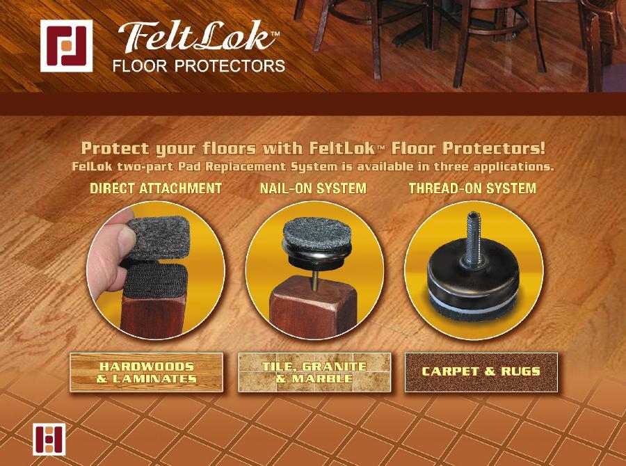 Feltlok floor protectors feltlock
